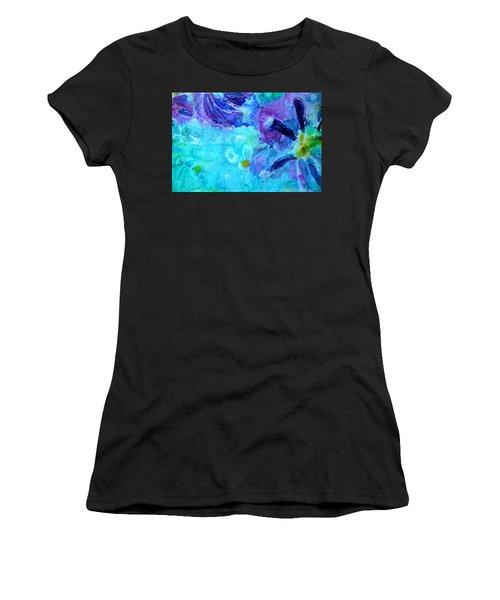 Blue Water Flower Women's T-Shirt
