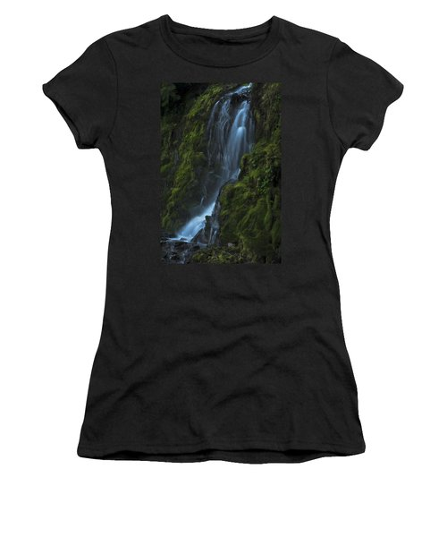 Blue Waterfall Women's T-Shirt (Athletic Fit)