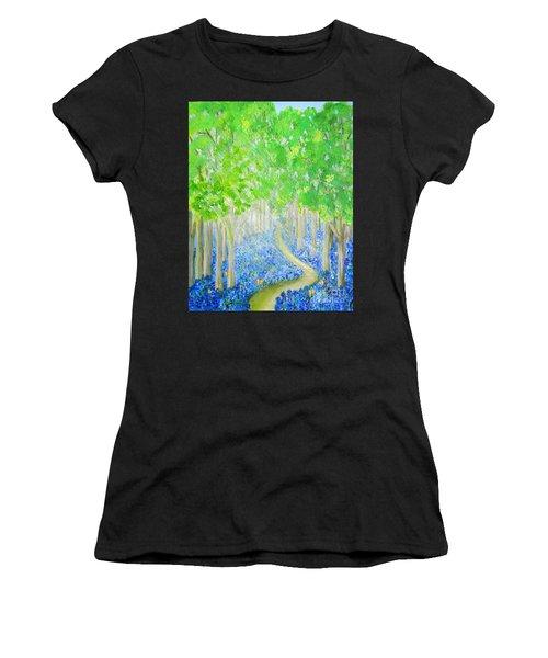 Bluebell Wood With Butterflies Women's T-Shirt