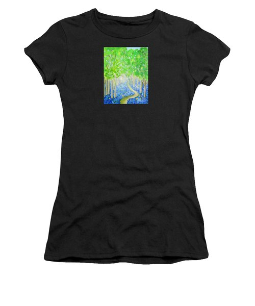 Bluebell Wood With Butterflies Women's T-Shirt