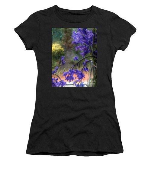 Bluebells In My Garden Window Women's T-Shirt (Athletic Fit)