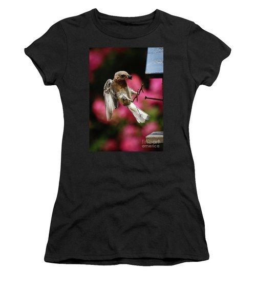 Women's T-Shirt (Junior Cut) featuring the photograph Bluebird 0726162 by Douglas Stucky