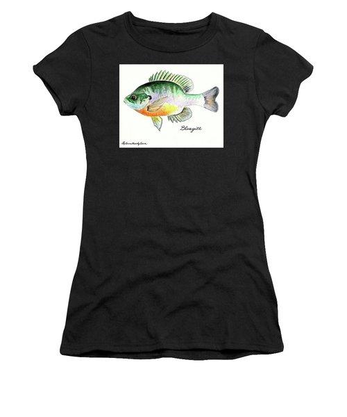 Bluegill Fish Women's T-Shirt (Athletic Fit)