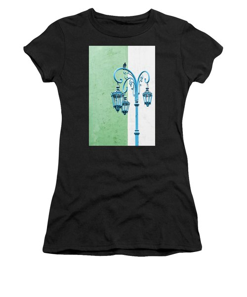 Blue,green And White Women's T-Shirt