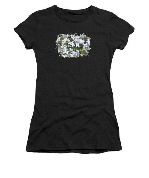 Bluet Flowers Watercolor Art Women's T-Shirt