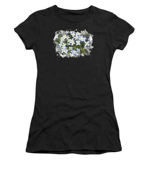 Bluet Flowers Watercolor Art Women's T-Shirt
