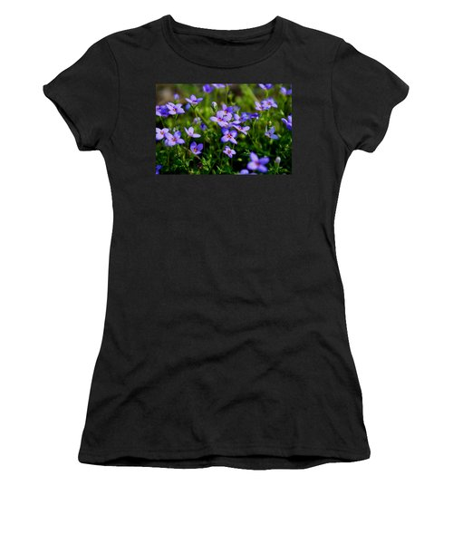 Women's T-Shirt (Junior Cut) featuring the photograph Bluets by Kathryn Meyer