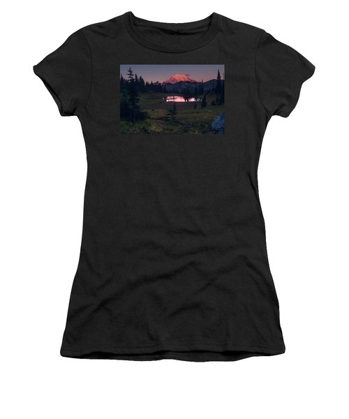 Women's T-Shirt (Athletic Fit) featuring the photograph Morning Blush by Gene Garnace