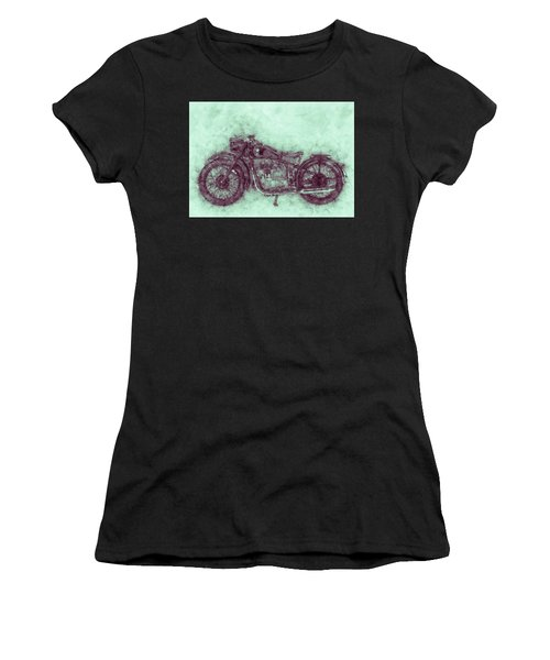 Bmw R32 - 1919 - Motorcycle Poster 3 - Automotive Art Women's T-Shirt