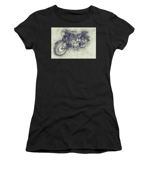 Bmw R60/2 - 1956 - Bmw Motorcycles 1 - Vintage Motorcycle Poster - Automotive Art Women's T-Shirt