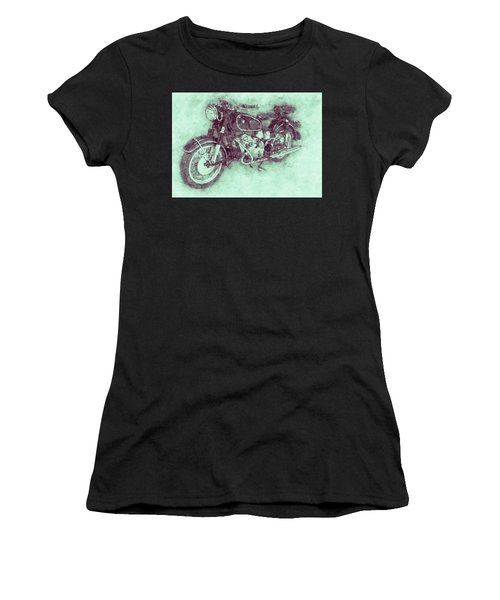 Bmw R60/2 - 1956 - Bmw Motorcycles 3 - Vintage Motorcycle Poster - Automotive Art Women's T-Shirt