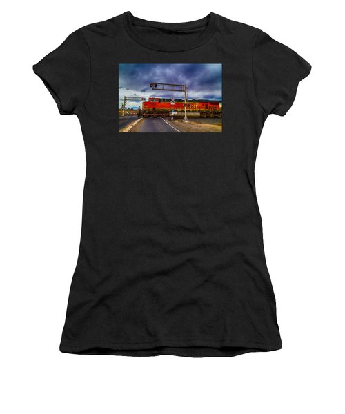 Bnsf 7682 Crossing Women's T-Shirt (Athletic Fit)