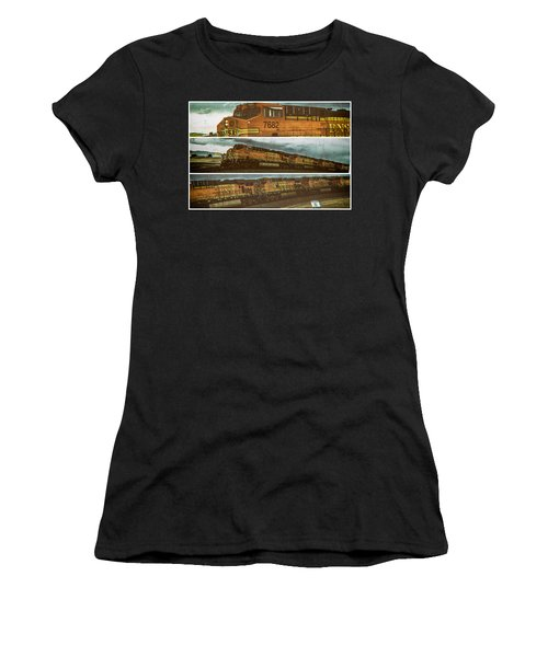 Bnsf 7682 Triptych  Women's T-Shirt (Athletic Fit)