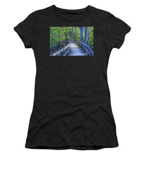 Boardwalk Going Into The Woods Women's T-Shirt