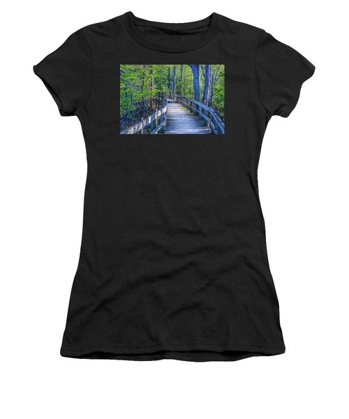 Boardwalk Going Into The Woods Women's T-Shirt
