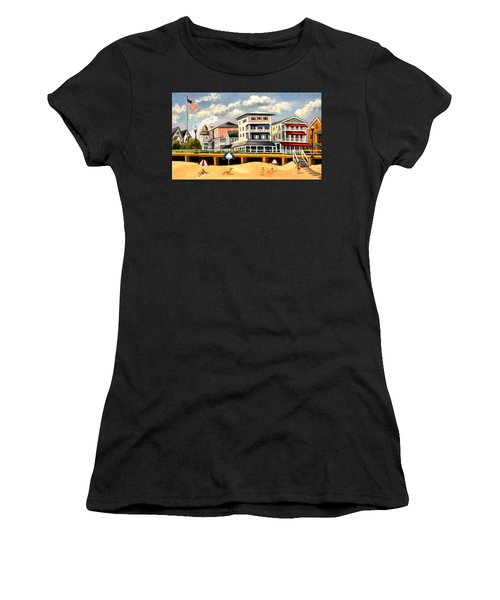 Boardwalk On The Jersey Shore Women's T-Shirt (Athletic Fit)