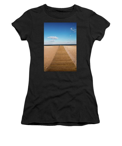 Boardwalk To The Ocean Women's T-Shirt (Athletic Fit)