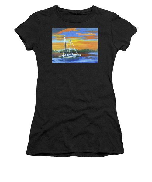 Boat Adrift Women's T-Shirt (Athletic Fit)