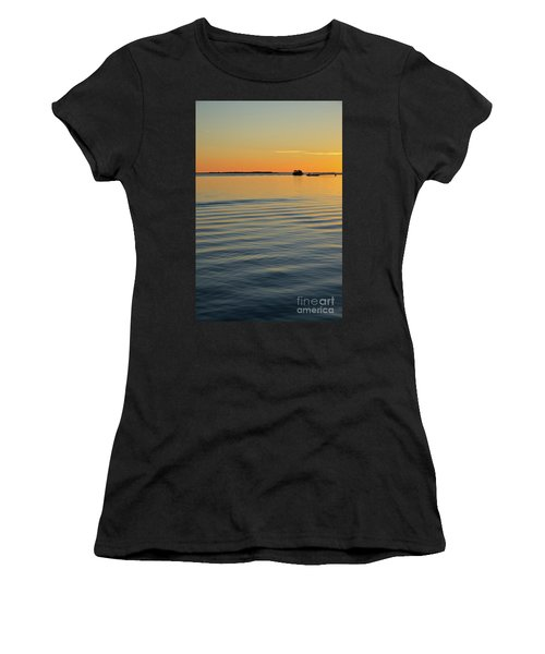 Boat And Dock At Dusk Women's T-Shirt