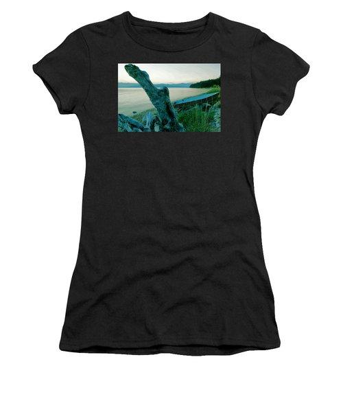 Boat On The Beach  Women's T-Shirt