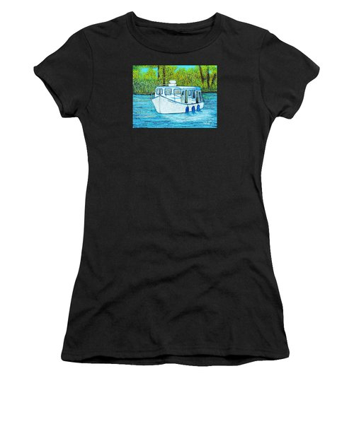 Boat On The River Women's T-Shirt (Athletic Fit)