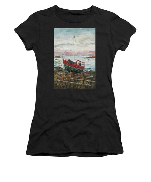 Boat On The Shore Women's T-Shirt