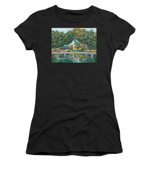 Boathouse In Central Park, N.y. Women's T-Shirt (Athletic Fit)