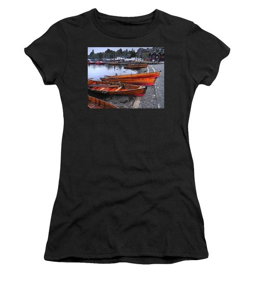 Boats At Windermere Women's T-Shirt (Athletic Fit)