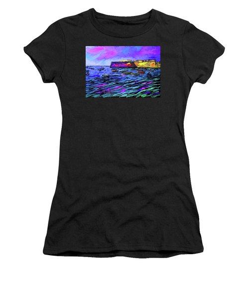 Boats In Cadiz, Spain Women's T-Shirt