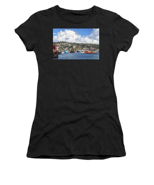Boats In Yaquina Bay Women's T-Shirt