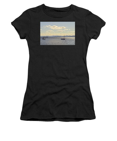 Boats On Lake Champlain Vermont Women's T-Shirt (Athletic Fit)