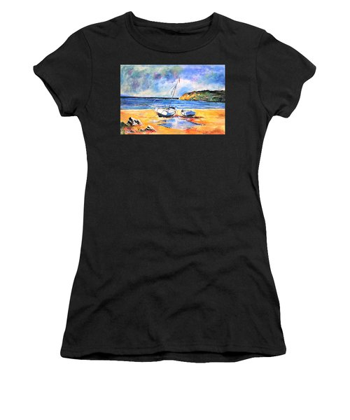 Boats On The Beach Women's T-Shirt (Athletic Fit)
