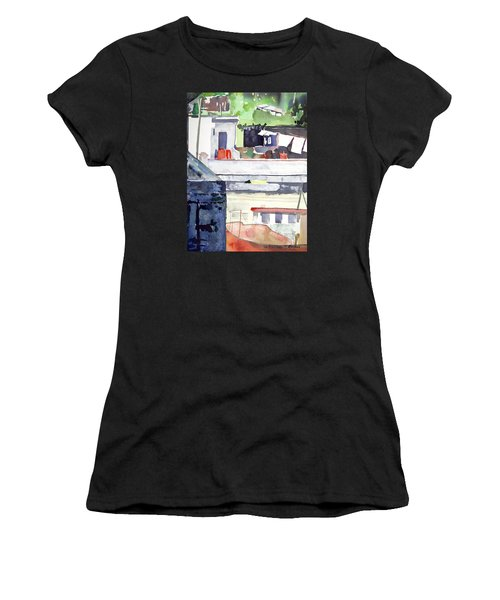 Boats On The Quay Women's T-Shirt