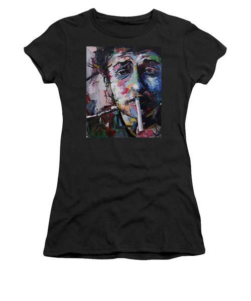 Bob Dylan Women's T-Shirt (Junior Cut) by Richard Day
