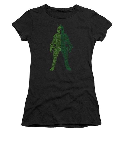 Boba Fett - Star Wars Art, Green 02 Women's T-Shirt (Athletic Fit)
