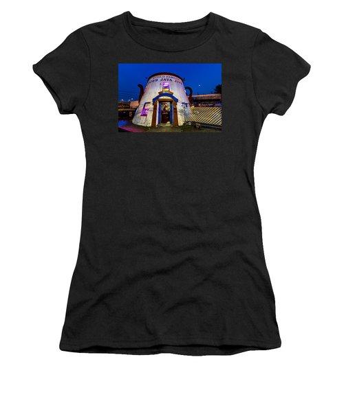 Bob's Java Jive - Historic Landmark During Blue Hour Women's T-Shirt