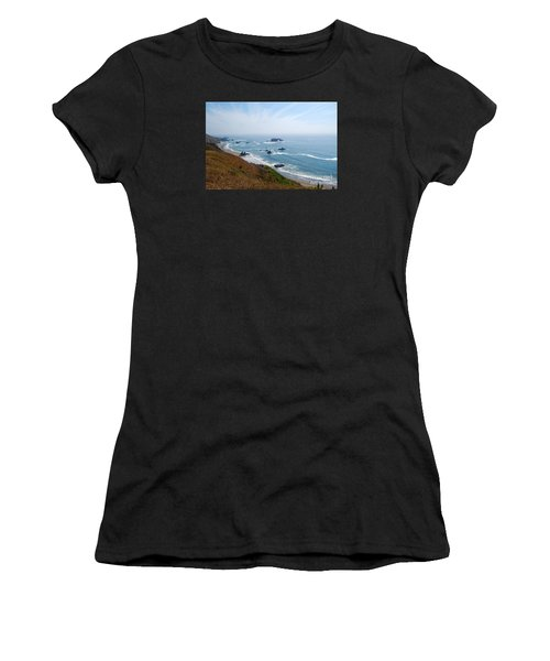 Bodega Bay Arched Rock Women's T-Shirt (Athletic Fit)