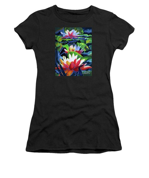 Bold Lilypads Women's T-Shirt (Athletic Fit)