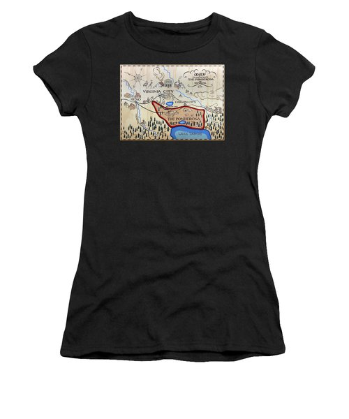 Bonanza Series Ponderosa Map  1959 Women's T-Shirt (Athletic Fit)