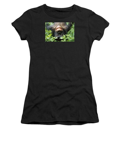 Women's T-Shirt featuring the photograph Bonobo Smiling by Cyril Ruoso