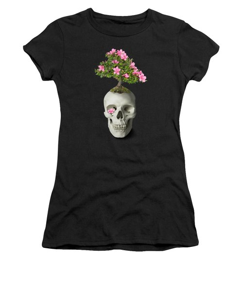Women's T-Shirt featuring the painting Bonsai Skull by Ivana Westin
