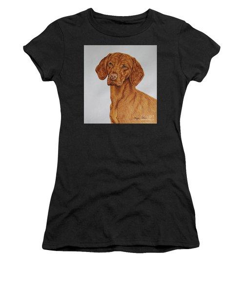 Boomer The Vizsla Women's T-Shirt (Athletic Fit)