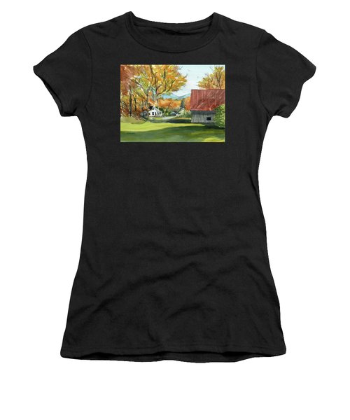 Boone Bungalow And Barn Women's T-Shirt (Athletic Fit)
