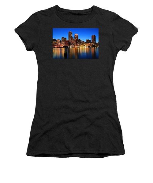 Boston Aglow Women's T-Shirt (Athletic Fit)