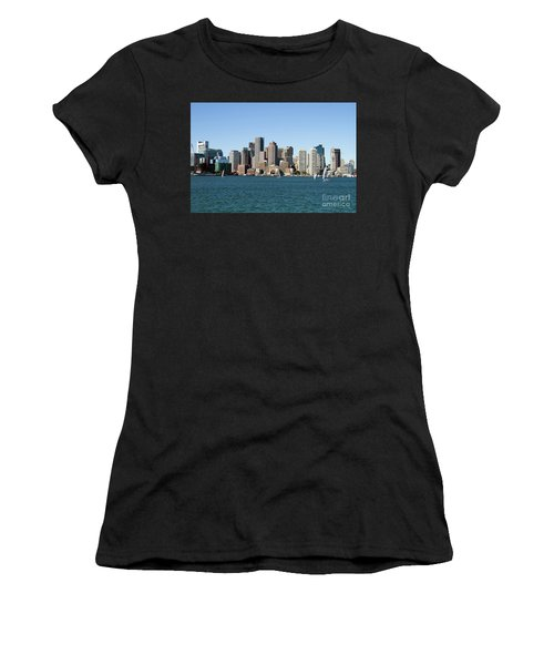Boston City Skyline Women's T-Shirt