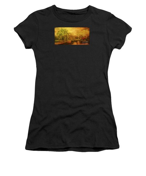 Boston Common In Autumn Women's T-Shirt (Athletic Fit)