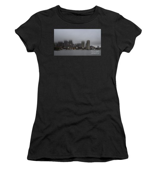 Boston In The Fog Women's T-Shirt (Athletic Fit)
