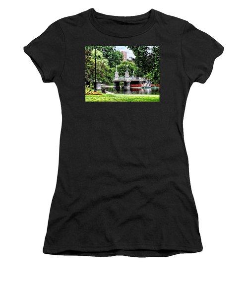 Boston Ma - Boston Public Garden Bridge Women's T-Shirt (Athletic Fit)