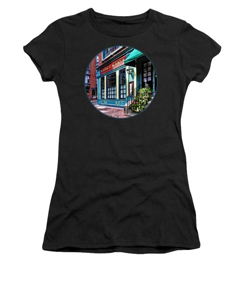 Boston Ma - North End Restaurant Women's T-Shirt