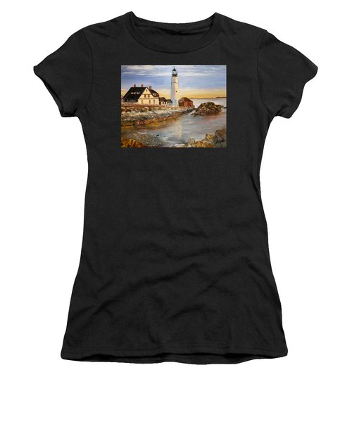 Boston Rocky Coast Women's T-Shirt (Athletic Fit)